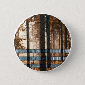 De bos herfst & de winter ronde button 5,7 cm