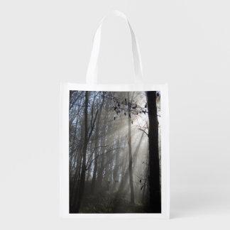 De bos Opnieuw te gebruiken Zak van de Mist van de Herbruikbare Boodschappentas