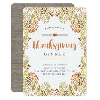 De bos Uitnodiging van de Thanksgiving