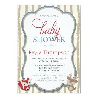 De bos Uitnodiging van het Baby shower - Vos en