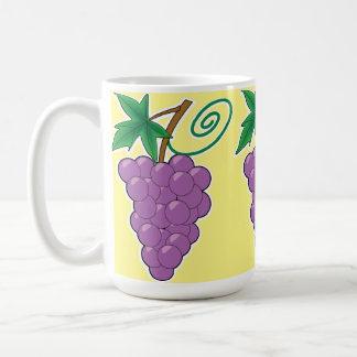 De Bos van de druif op Lichtgeel Koffiemok