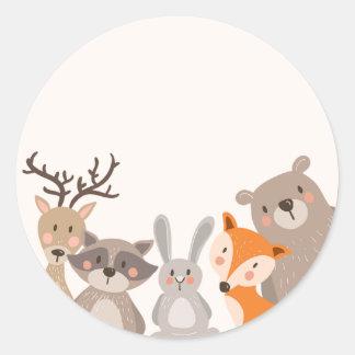 De bos van de het labelSticker van de baby Ronde Sticker
