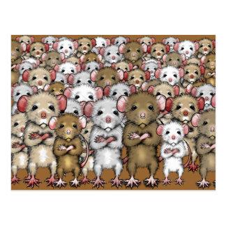 De Bos van de troep van het Briefkaart van Ratten