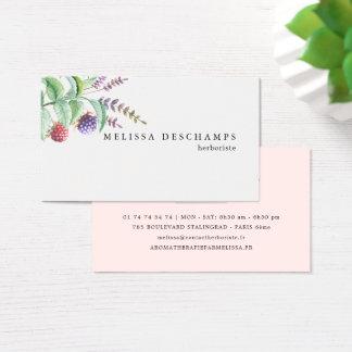 De Botanic Herbal Spa Elegante Sjabloon van Visitekaartjes