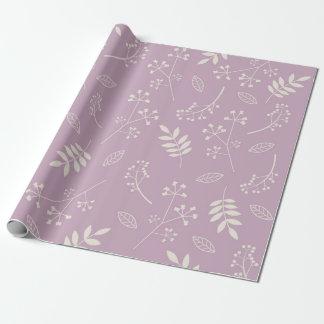 De botanische BloemenLavendel van het Groen van Inpakpapier