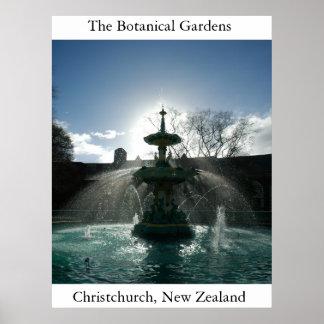 De botanische Tuinen Poster