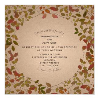 De botanische Uitnodiging van het Huwelijk van de