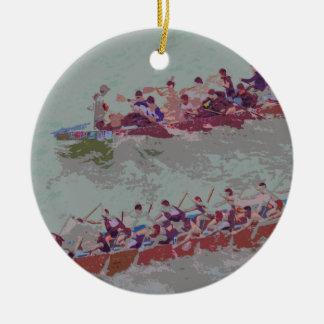 De Boten van de draak e4 Rond Keramisch Ornament