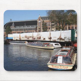 De boten van de excursie in Amsterdam Muismat