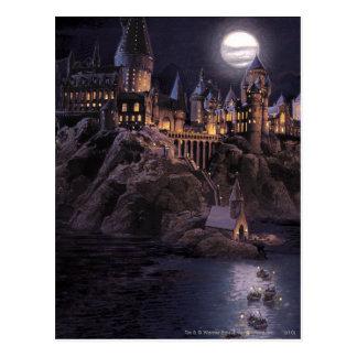 De Boten van Hogwarts aan Kasteel Briefkaart