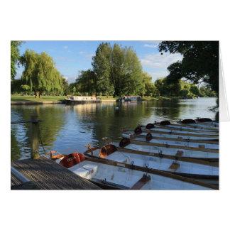 De Boten van roeiboten op de Rivier Stratford op Briefkaarten 0