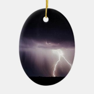 De Bout van de verlichting (Storm) Keramisch Ovaal Ornament