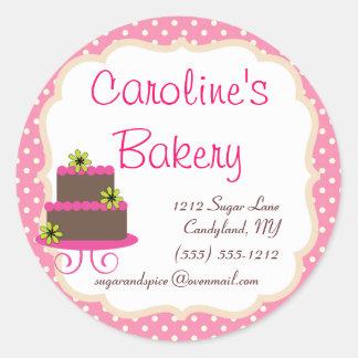 De Boutique van het baksel en van de Bakkerij, Ronde Sticker