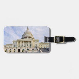 De Bouw van Capitol Hill in Washington DC Kofferlabel