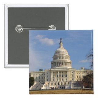 De Bouw van Capitol Hill van het Washington DC Vierkante Button 5,1 Cm