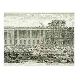 De bouw van de Belangrijkste Ingang van het Briefkaart