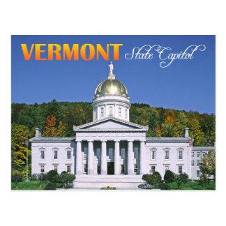 De bouw van het Capitool van de Staat van Vermont, Briefkaart