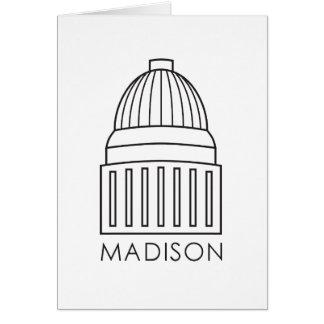 De Bouw van het Capitool van Madison Wisconsin Wenskaart