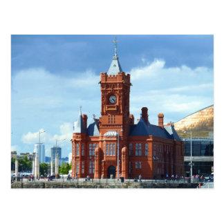De Bouw van Pierhead, Cardiff, Wales, het UK Briefkaart