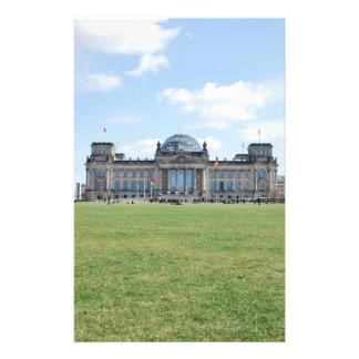 De bouw van Reichstag - Berlijn, Duitsland Fullcolor Folder