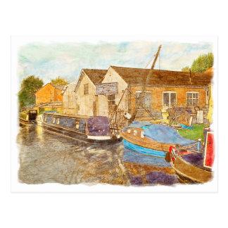 De Bouwers van de boot Briefkaart