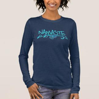 De Bovenkant van de Yoga van Namaste - Lang Sleeve T Shirts