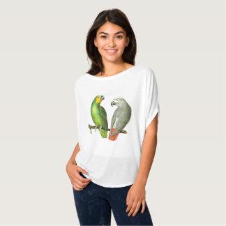 """De Bovenkant van de Zomer van """"vintage Papegaaien T Shirt"""
