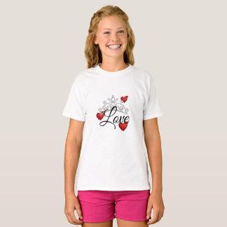 De Bovenkant van meisjes met de Liefde & de Tiara T Shirt
