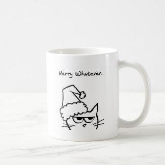 De boze haat Christmast van de Kat Koffiemok