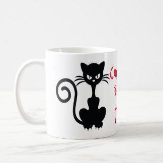 De boze Zwarte Spreuken van de Kat Koffiemok