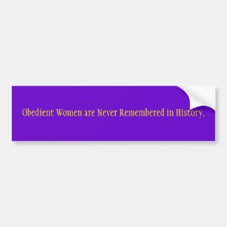 De braaf Vrouwen worden nooit herinnerd in Geschie Bumpersticker