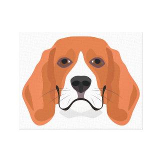 De Brak van het de hondengezicht van de Canvas Afdrukken