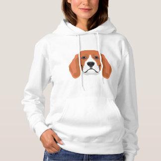 De Brak van het de hondengezicht van de Hoodie