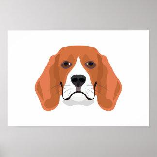 De Brak van het de hondengezicht van de Poster
