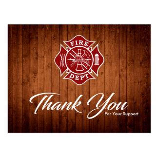 De brandbestrijder/de Brand Afd. dankt u Briefkaart