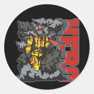 De Brandbestrijder van de HELD Ronde Sticker