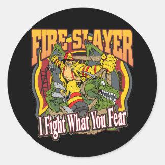 De Brandbestrijder van de Moordenaar van de brand Ronde Sticker