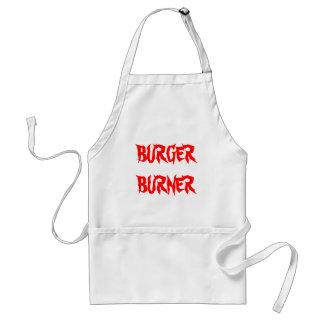 De brander van de hamburger standaard schort