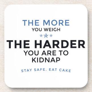 De Brandkast van het verblijf eet Cake Onderzetter