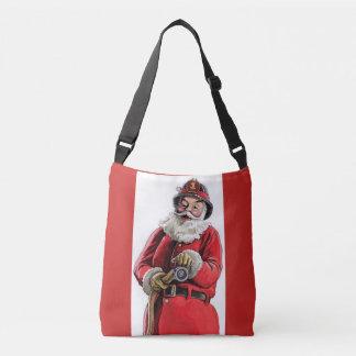 De brandweermanbeurs van de kerstman crossbody tas