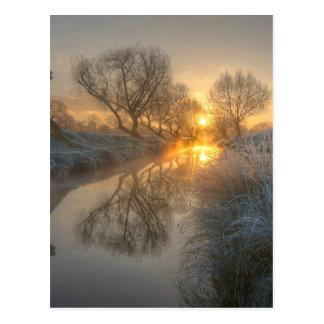 De brandwonden van de zonsopgang van de vroege briefkaart