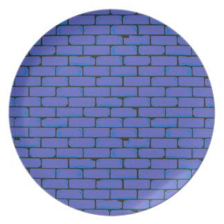 De brede Blauwe Achtergrond van de Muur Diner Borden