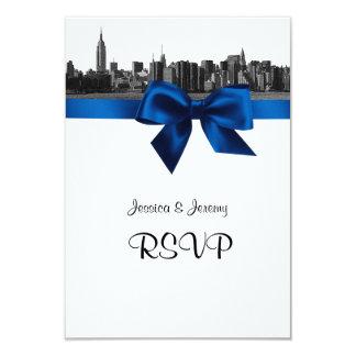De Brede Horizon Geëtste BW Koningsblauwen van NYC Kaart