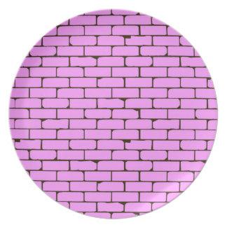 De brede Roze Achtergrond van de Muur Party Bord