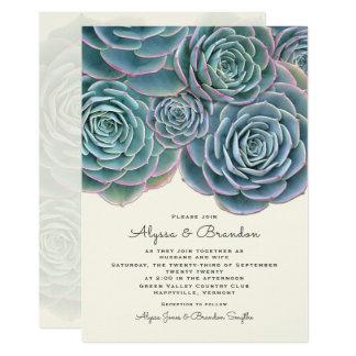 De brede Succulente Uitnodiging van het Huwelijk