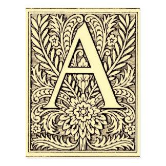 De Brief A van het alfabet Briefkaart
