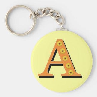 De Brief A van het monogram Sleutelhanger