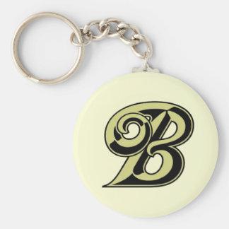 De Brief B Keychain van het monogram Sleutelhanger