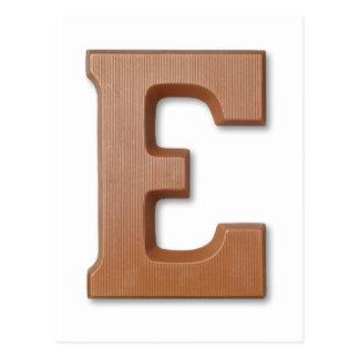 De brief E van de chocolade Briefkaart