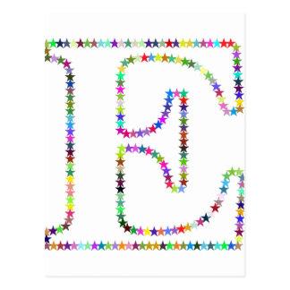 De Brief E van de Ster van de regenboog Briefkaart